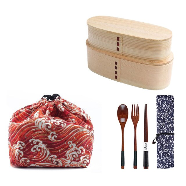 2 Bentos and Cutlery Set Boichi
