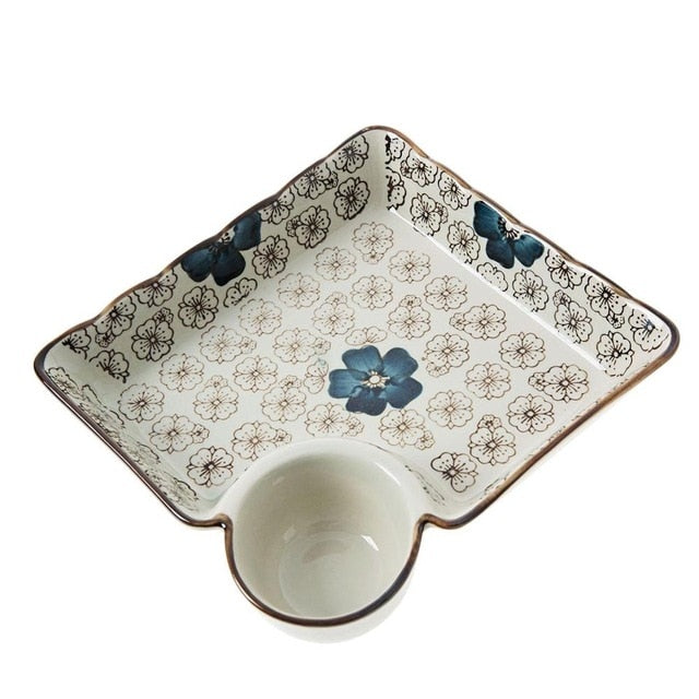 Plate with Sauce Bowl Mita ( 2 colors)