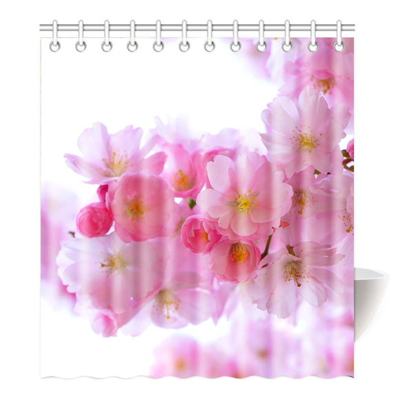 Shower Curtain Sakura Flowers (6 sizes)