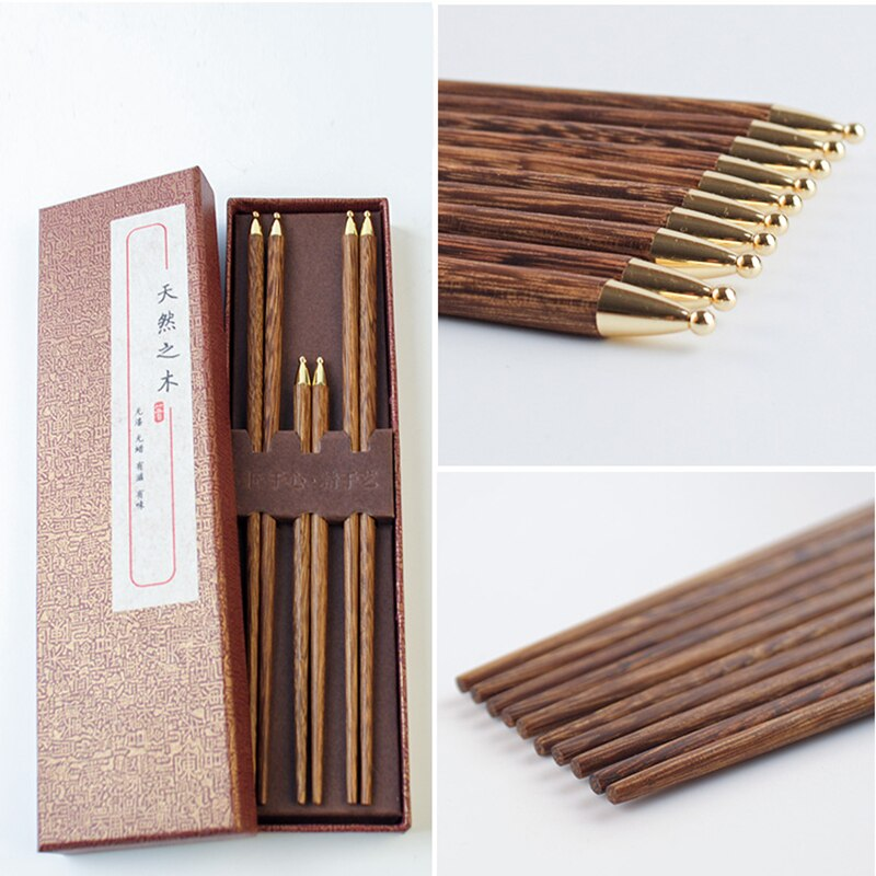 3 pairs of Chopsticks, 2 for adults and 1 for child Set Aoyama (3 colors)