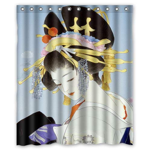 Shower Curtain Japanese Geisha II (5 sizes)