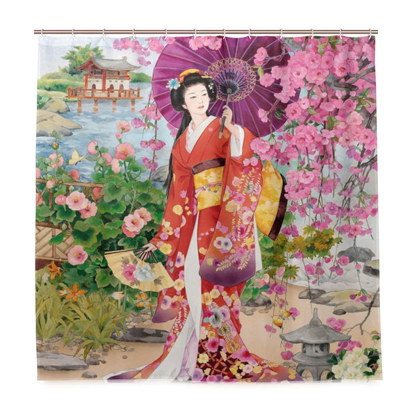 Curtain Shower Japanese Geisha (5 sizes)