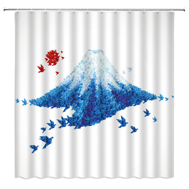 Shower Curtain Blue Fuji (4 sizes)