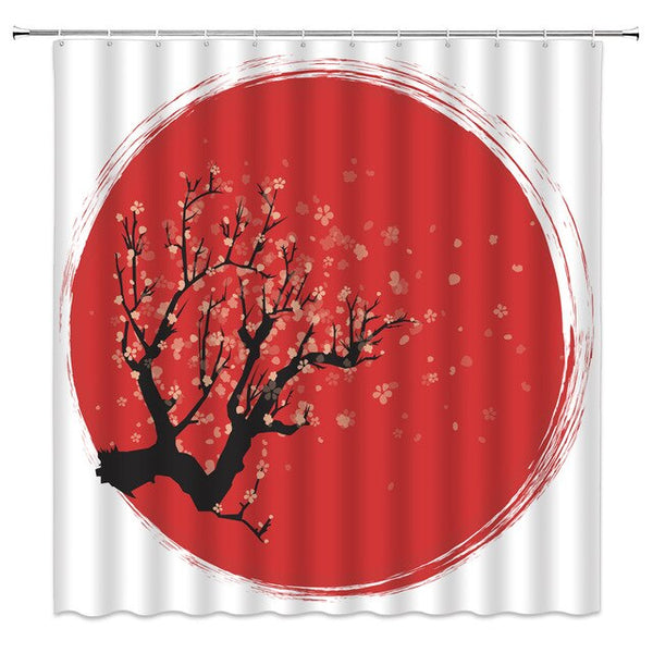 Shower Curtain Japan Flag (4 sizes)