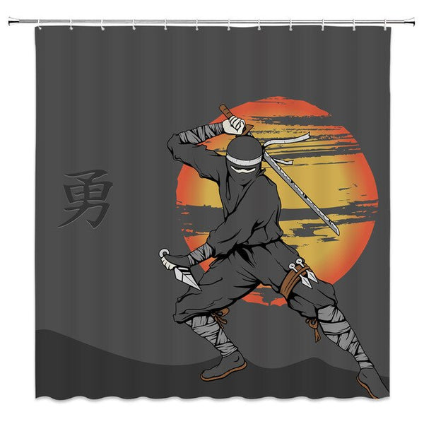Shower Curtain Samurai II (4 sizes)