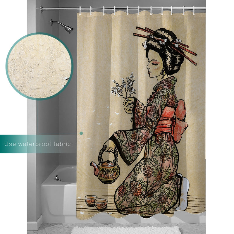 Shower Curtain Geisha (9 sizes)