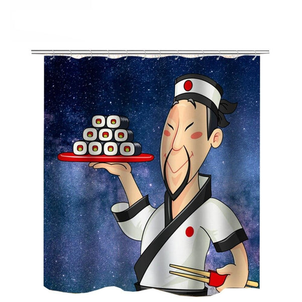 Shower Curtain Sushi (5 sizes)