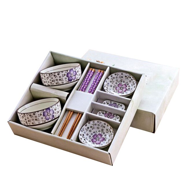 Chopsticks, Chopsticks Holders, Sauce Bowls and Rice Bowls Set Gochome (4 colors)