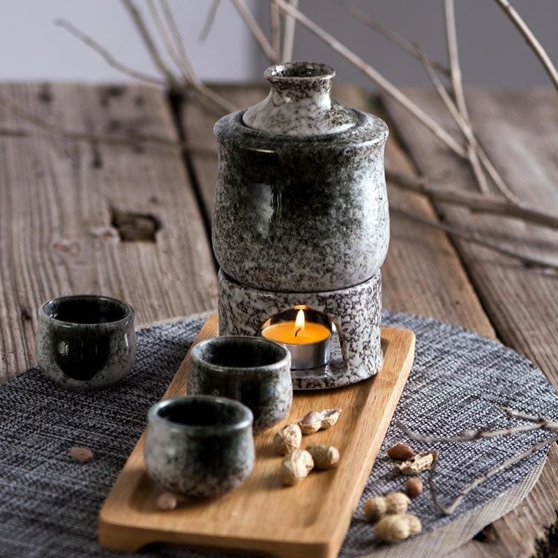 Sake Set with Stove Hayate - Sake