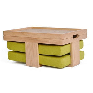Table and 2 Cushions Hiroshima - Light green seat - Table