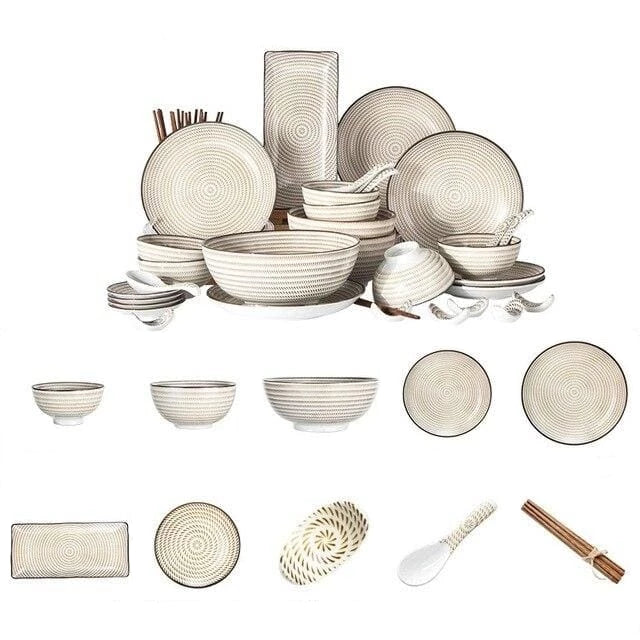 Tableware for six people Kiyoshi - a