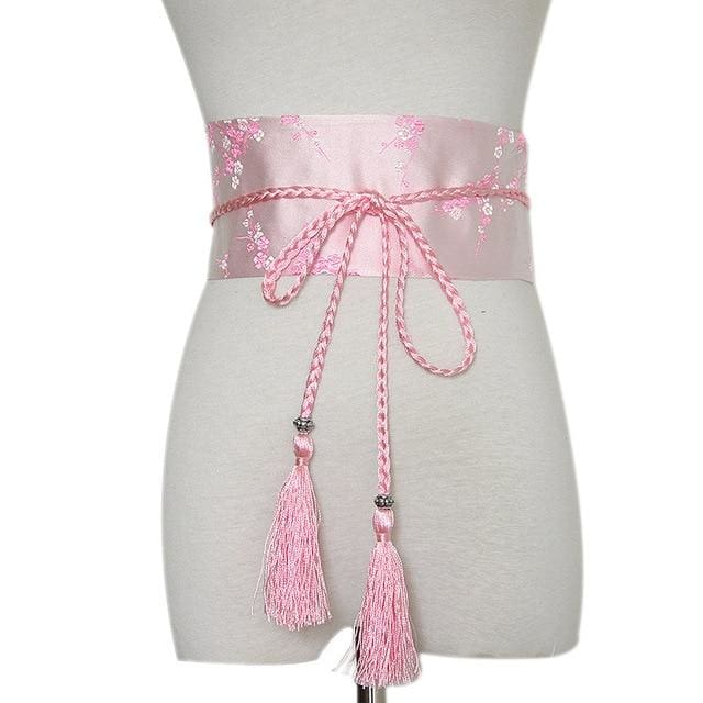 Woman Obi Belt Yoshimi - Pink - a
