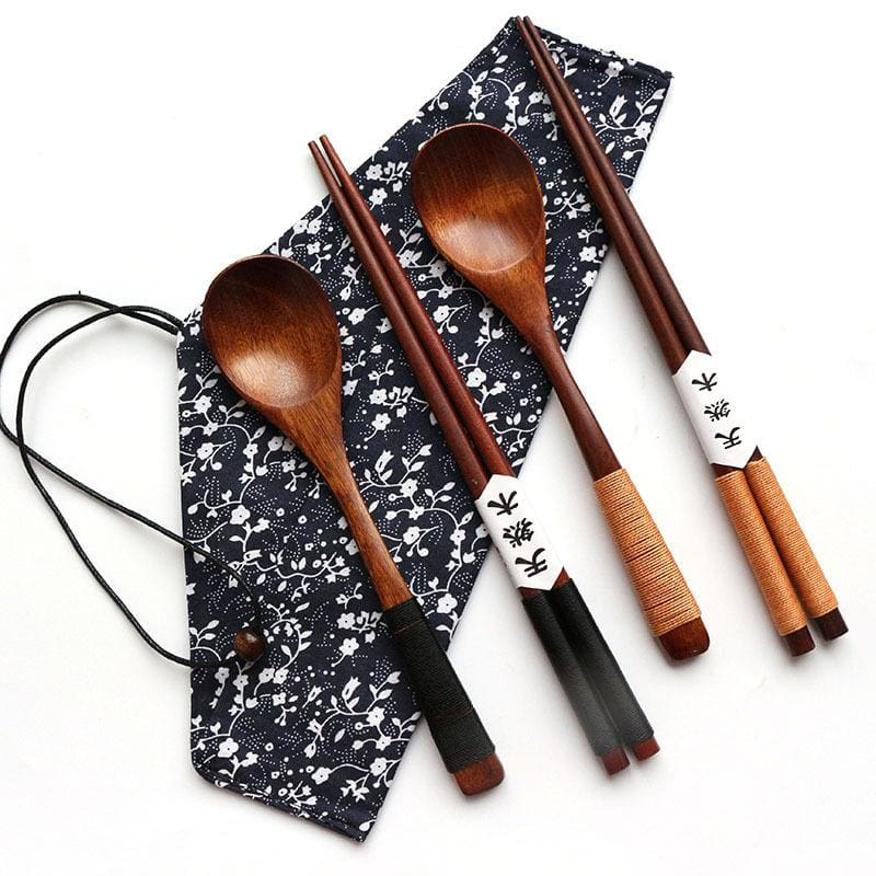 Wooden Chopsticks and Spoon Kita - Chopsticks