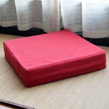 Load image into Gallery viewer, Zafu Inba - Red / 40x40cm (15.7) - Tatami Cushion