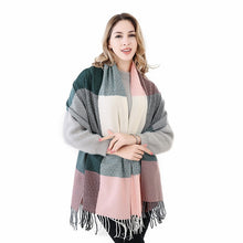 Load image into Gallery viewer, Luxury Plaid Cashmere Thick Scarves