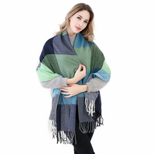 Luxury Plaid Cashmere Thick Scarves