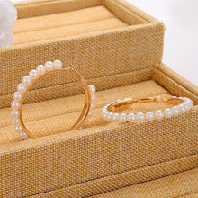 Load image into Gallery viewer, Beautiful White Pearl Decoration Hoop Earring