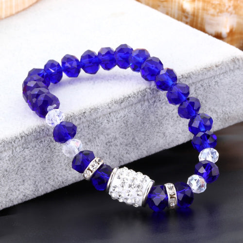 Bracelets With Colorful Crystal Beads
