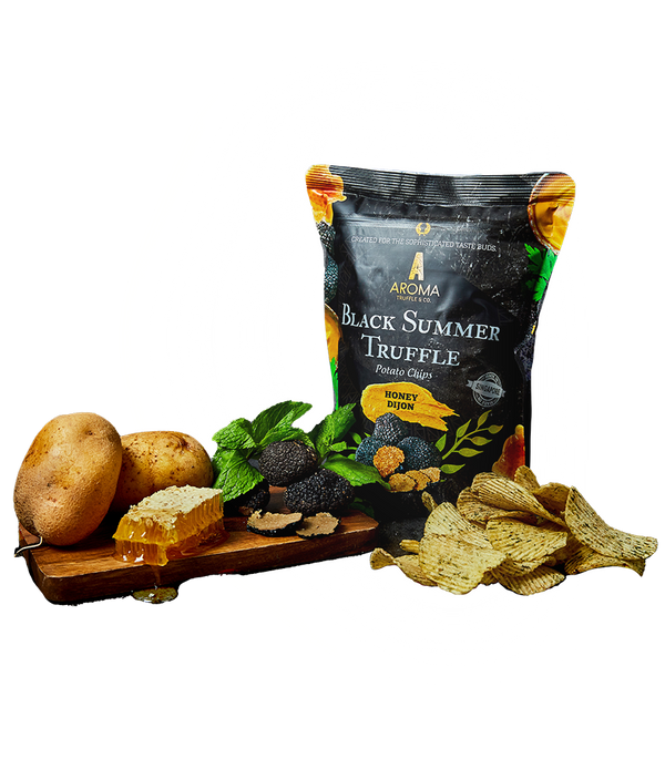 Black Summer Truffle Chips (Honey Dijon)