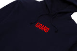 Grand Collection Block Hoodie Navy