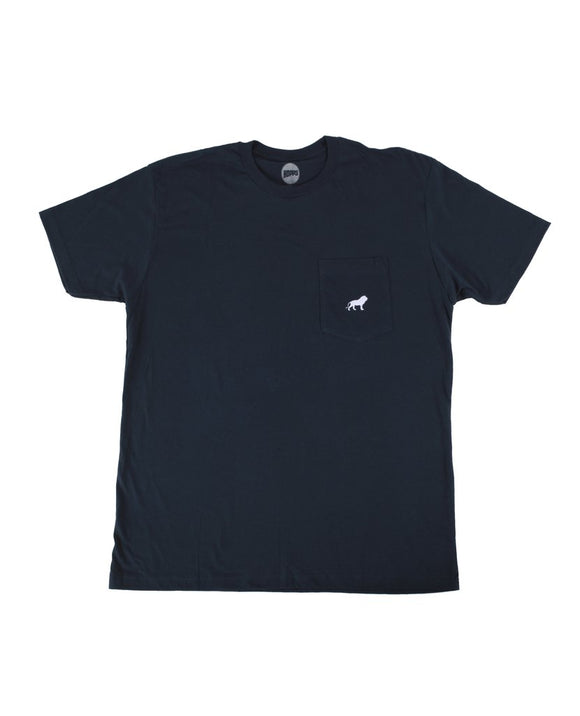 Hopps Lion Pocket Tee Navy