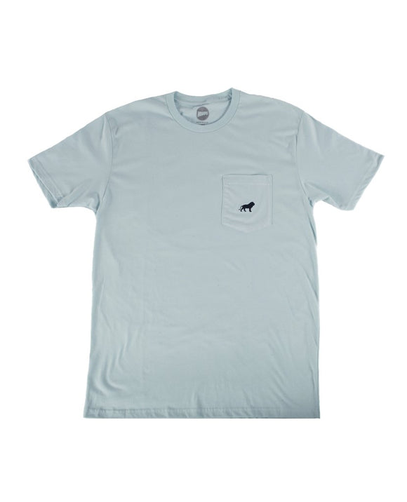 Hopps Lion Pocket Tee Powder Blue