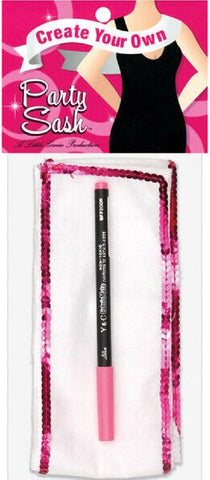 Create Your Own Party Sash (White)