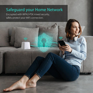 Meshforce M1 Whole Home Mesh WiFi System (3 Pack), Coverage up to 6+ Bedrooms