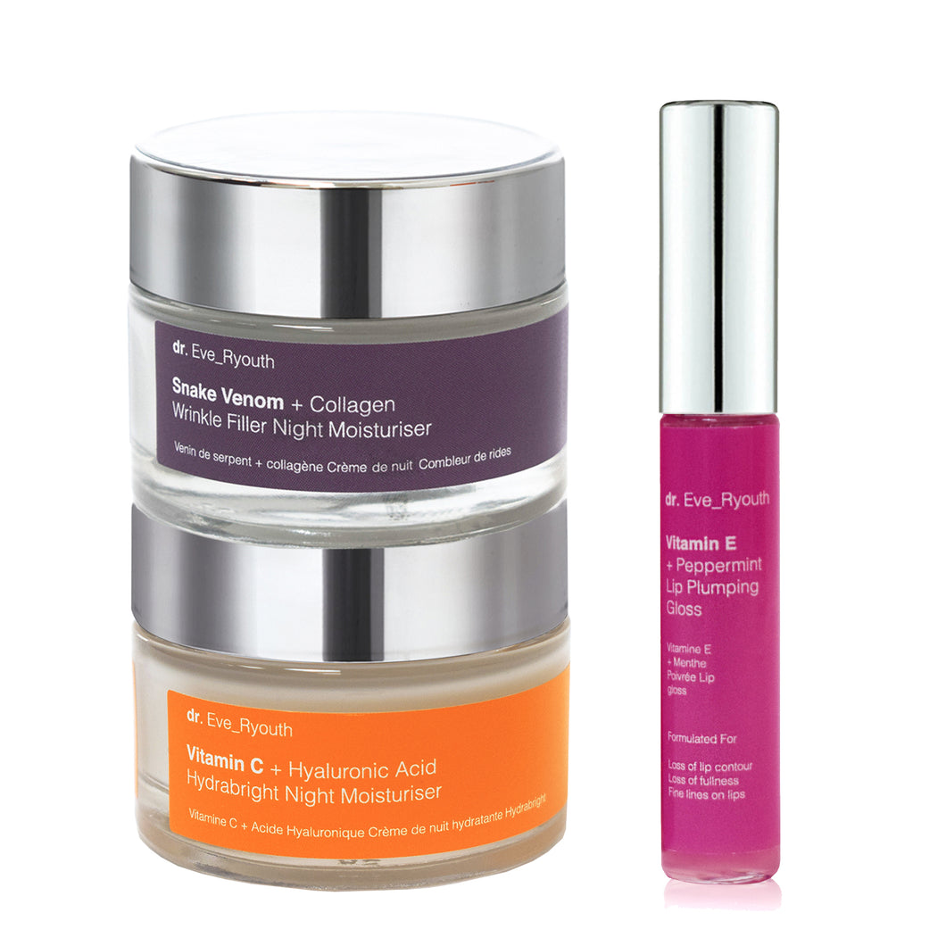 Pro-Night Treatment Duo & Lip Plumping Treatment Set