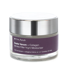 Load image into Gallery viewer, Snake Venom + Collagen Wrinkle Filler Night Moisturiser 50ml