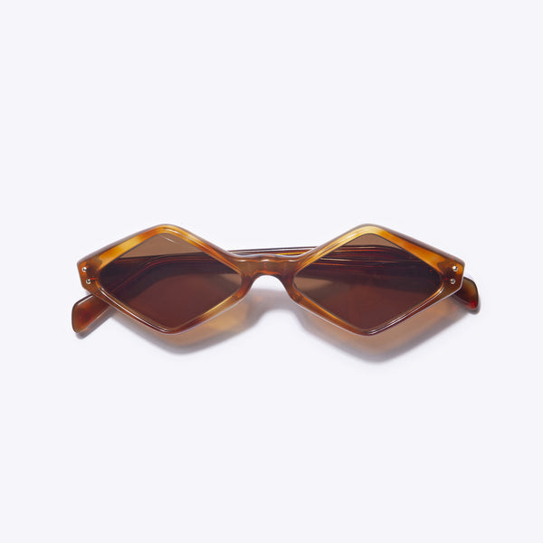 Vintage rhombus-shaped sunglasses