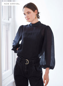 Rendezvous Blouse, Black | Wish the Label