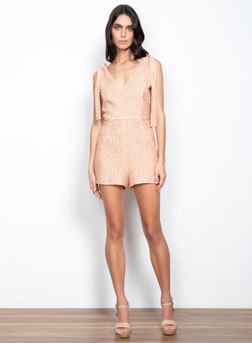 Meet You Playsuit Peach Spot