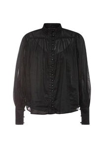 Belle of Bloom Shirt, Black, Ministry of Style