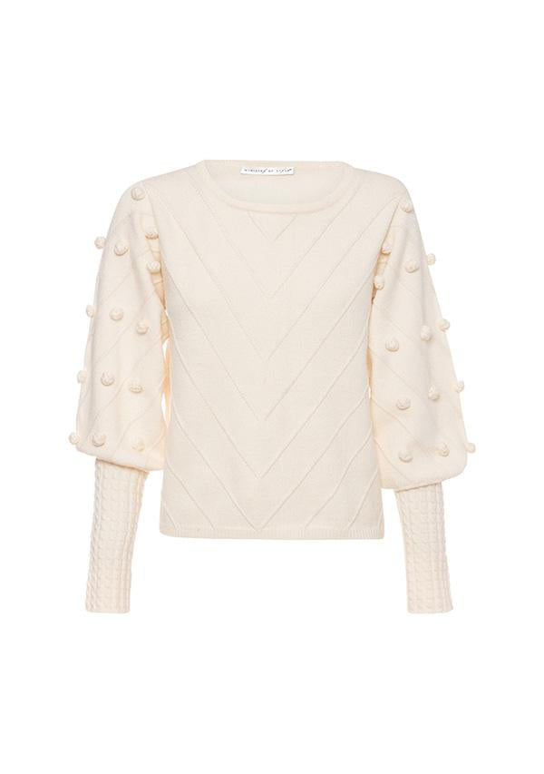 Dante Bell Sweater Ivory Ministry of Style