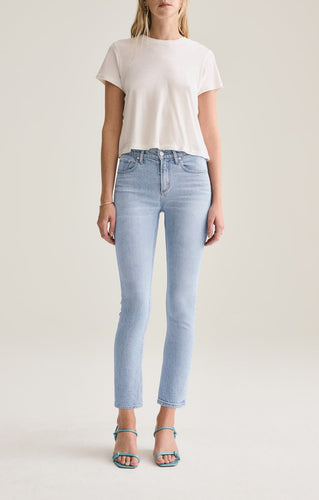 Toni Mid Rise Straight Jeans  in Daylight