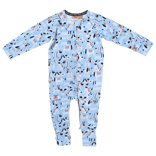 Sir Fred Organic Zip Romper  | Kip & Co