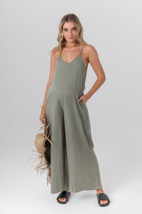 Bisque Jumpsuit (Olive)