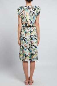 Isla Pleat Dress Nordic Bloom | Cable Melbourne