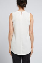 Load image into Gallery viewer, Adele Silk Tank White Cable Melbourne
