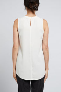 Adele Silk Tank White Cable Melbourne