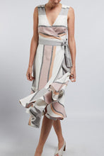 Load image into Gallery viewer, Positano Linen Dress Musk Stripe | Cable Melbourne