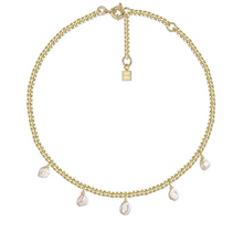 Load image into Gallery viewer, Ramble On Pearl Necklace, 18K Gold and Glass Pearl - F & H