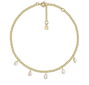 Ramble On Pearl Necklace, 18K Gold and Glass Pearl - F & H