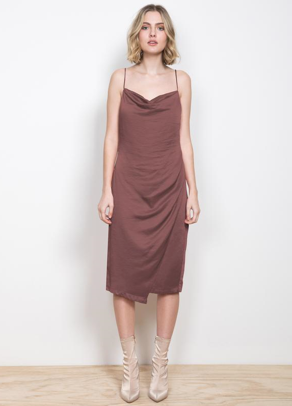 Solace Midi Dress- Bronze