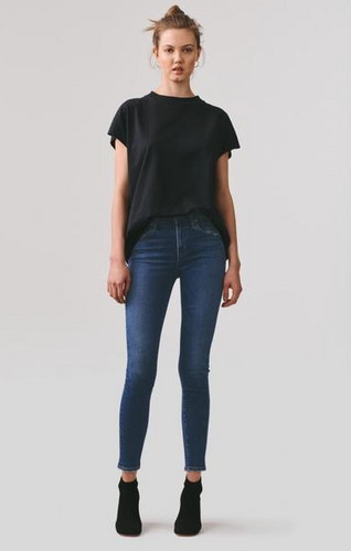 Sophie Mid Rise Ankle Jean in Tame