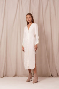 Clemence Dress, white, Steele