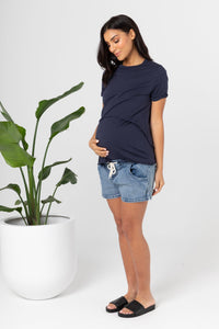 Denim Shorties (blue denim)- LEGOE