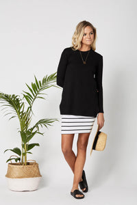 Downtown Skirt White/Black- LEGOE