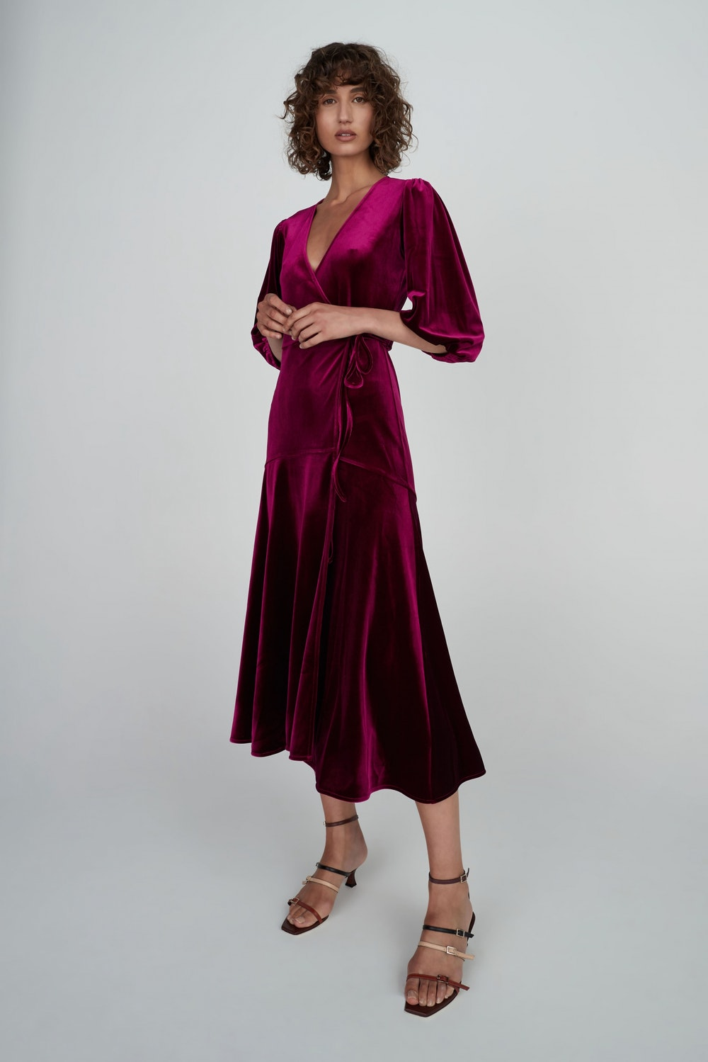The Luella Velvet Dress, Boysenberry Hansen & Gretal